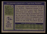 1972 Topps #143   Raymond Chester Back Thumbnail