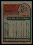 1975 Topps #410   Mike Cuellar Back Thumbnail