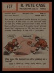 1962 Topps #125   Pete Case Back Thumbnail
