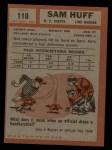 1962 Topps #110  Sam Huff  Back Thumbnail