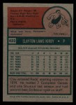 1975 Topps #423   Clay Kirby Back Thumbnail