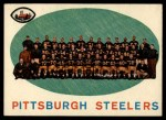1959 Topps #146  Steelers Team Checklist  Front Thumbnail