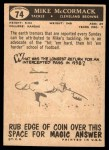 1959 Topps #74  Mike McCormack  Back Thumbnail