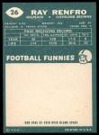1960 Topps #26  Ray Renfro  Back Thumbnail