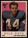 1959 Topps #7  Kyle Rote  Front Thumbnail