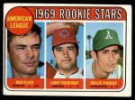 1969 Topps #597  AL Rookies  -  Larry Burchart / Rollie Fingers / Bob Floyd Front Thumbnail