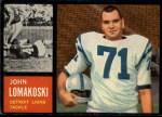 1962 Topps #61  John Lomakoski  Front Thumbnail