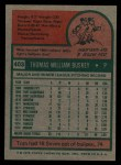 1975 Topps #403   Tom Buskey Back Thumbnail