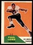 1960 Fleer #76  Paul Lowe  Front Thumbnail