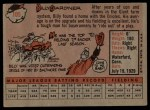 1958 Topps #105  Billy Gardner  Back Thumbnail
