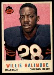 1959 Topps #145   Willie Galimore Front Thumbnail