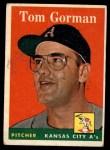 1958 Topps #235   Tom Gorman Front Thumbnail