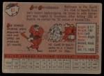1958 Topps #67  Joe Ginsberg  Back Thumbnail