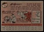 1958 Topps #64  Joe Lonnett  Back Thumbnail
