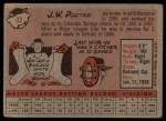 1958 Topps #32 WN J.W. Porter  Back Thumbnail