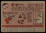 1958 Topps #26  Ron Jackson  Back Thumbnail