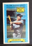 1972 Kellogg All Time Greats #13  Lou Gehrig  Front Thumbnail