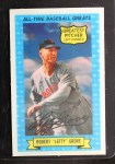 1972 Kellogg All Time Greats #7  Lefty Grove  Front Thumbnail