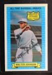 1972 Kellogg All Time Greats #1   Walter Johnson Front Thumbnail
