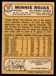 1968 Topps #305  Minnie Rojas  Back Thumbnail