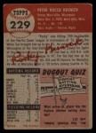 1953 Topps #229  Rocky Krsnich  Back Thumbnail