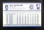 1972 Kelloggs #46  Billy Williams  Back Thumbnail