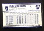1972 Kelloggs #30   Leo 'Chico' Cardenas Back Thumbnail