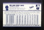 1972 Kelloggs #3  Willie Davis  Back Thumbnail
