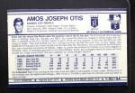 1972 Kelloggs #2  Amos Otis  Back Thumbnail
