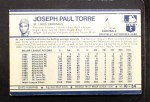 1972 Kelloggs #10  Joe Torre  Back Thumbnail