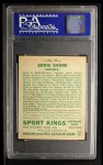 1933 Goudey Sport Kings #19  Eddie Shore   Back Thumbnail