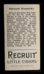 1912 T207 #94  Ed Konetchy    Back Thumbnail