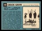 1964 Topps #46   Chuck Gavin Back Thumbnail