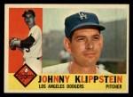 1960 #191  Johnny Klippstein  Front Thumbnail