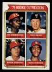 1974 Topps #601   Rookie Outfielders   -  Ed Armbrister / Rich Bladt / Brian Downing / Bake McBride Front Thumbnail
