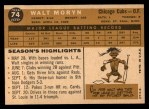 1960 Topps #74   Walt Moryn Back Thumbnail