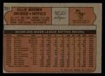 1972 Topps #551  Ollie Brown  Back Thumbnail