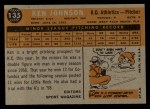 1960 Topps #135   -  Ken Johnson Rookies Back Thumbnail