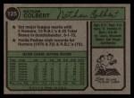 1974 Topps #125 WASH Nate Colbert  Back Thumbnail