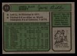 1974 Topps #11   Jim Bibby Back Thumbnail