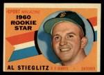 1960 Topps #144  Rookie Stars  -  Al Stieglitz Front Thumbnail