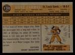 1960 Topps #120   -  Duke Carmel Rookies Back Thumbnail