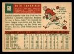 1959 Topps #68   Dick Schofield Back Thumbnail