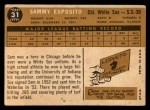 1960 Topps #31  Sammy Esposito  Back Thumbnail