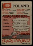 1956 Topps Flags of the World #49   Poland Back Thumbnail