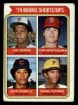 1974 Topps #607   -  Leo Foster / Tom Heintzelman / Dave Rosello / Frank Taveras Rookie Shortstops   Front Thumbnail