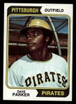 1974 Topps #252  Dave Parker  Front Thumbnail