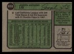 1974 Topps #659  Joe Lis  Back Thumbnail