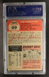 1953 Topps #119   Johnny Sain Back Thumbnail
