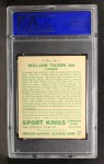 1933 Goudey Sport Kings #16   William Tilden  Back Thumbnail